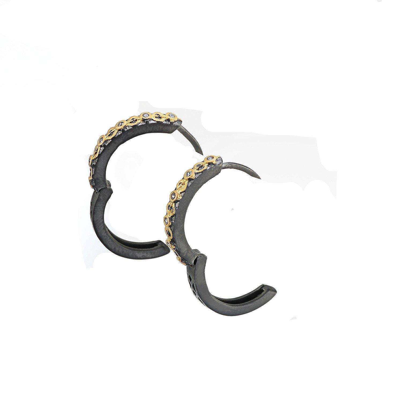 VANAXIN Hoop Earrings Cubic-Zirconia Cute Retro Earrings for Women Girls