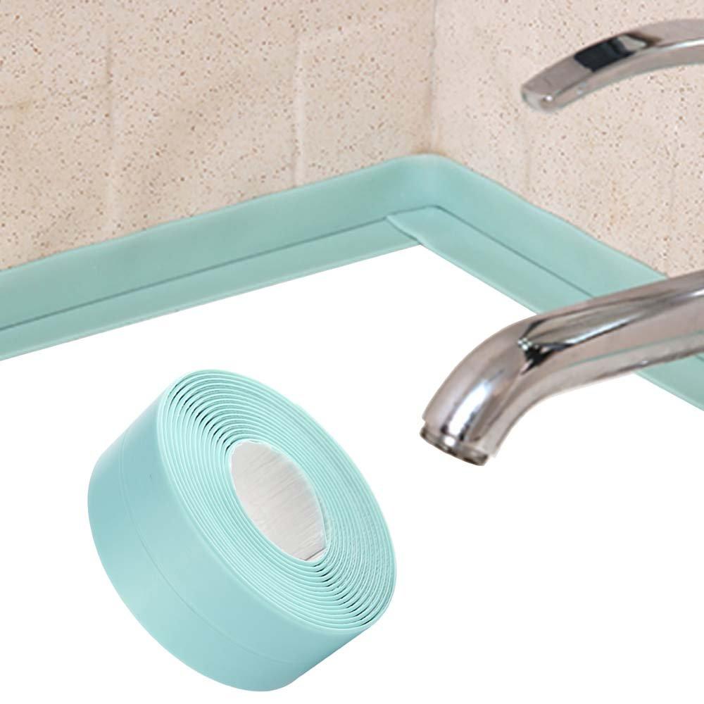 KaLaiXing Tub and Wall Caulk Strip. Kitchen Caulk Tape Bathroom Wall Sealing Tape Waterproof Self-Adhesive Decorative Trim-Green by KaLaiXing