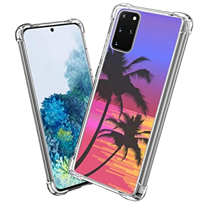 Compatible with Samsung Galaxy S20+ 6.7 Version Tropical Palm Tree