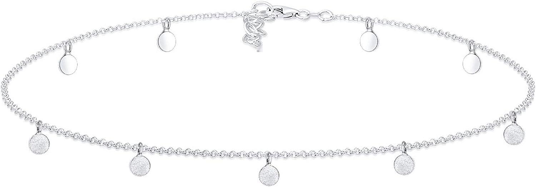 Elli Collares para mujer en forma círcular color mate en plata esterlina de ley 925