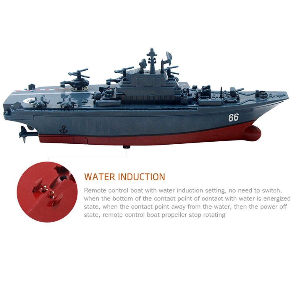 SODIAL RC Boat 2 4GHz Remote Control Ship Aircraft Carrier Warship