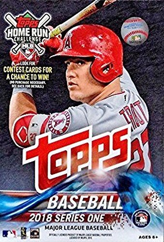 2018 Topps Series 1 ML Baseball EXCLUSIVE HUGE Factory Sealed 72 Card Hanger Box with 1983 Topps Baseball, Topps Salute & 2 Legends in the Making Insert Cards! Look for Autographs & Relics!  Loaded!
