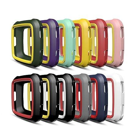 Zolimx Colorido Moda Suave TPU Accesorios Protección Silicona Caso Completo Cubierta Protector Pantalla para Fitbit Versa