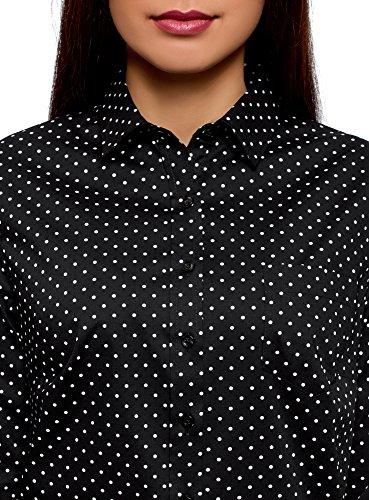 oodji Cotone Donna Basic 2910d Nero Camicia Ultra in UqUnWa6