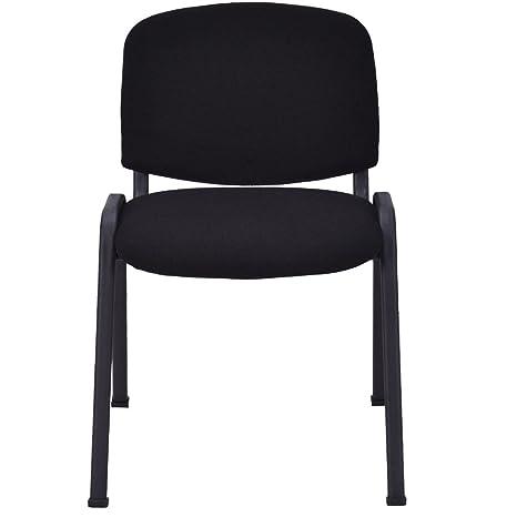 Amazon.com: Juego de 5 sillas de conferencias con asiento ...
