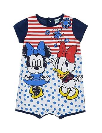 Minnie Barboteuse bébé Fille Disney et Daisy Rouge et Marine de 6 à 24mois   Amazon.fr  Vêtements et accessoires 4e640de59ba