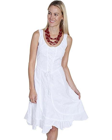 17194964 Scully Women's Sleeveless Peruvian Cotton Dress White Small at ...