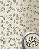 WallFace 13920 3D ROSE Wall panel punched flower decor metal look wallcovering self-adhesive gold champagner | 2,60 sqm