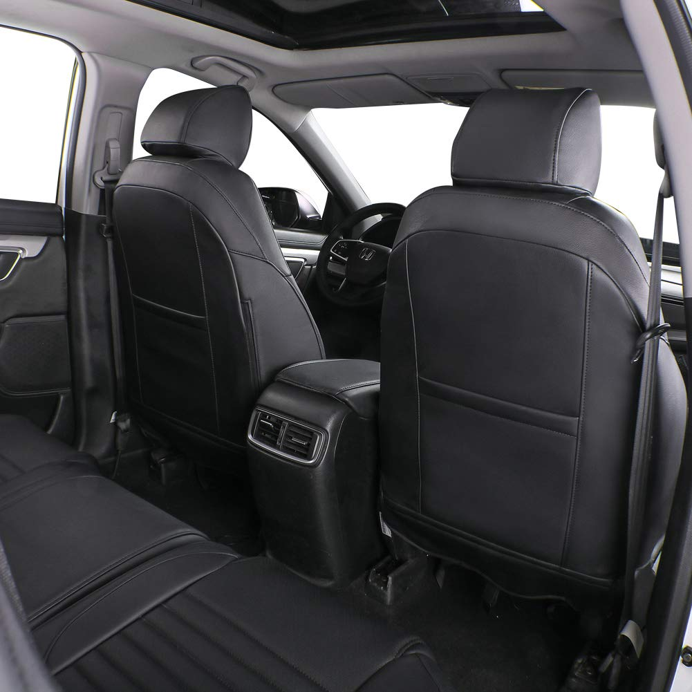 Spacermesh Solid Black Coverking Custom Fit Front 50//50 Bucket Seat Cover for Select Audi A3 Models