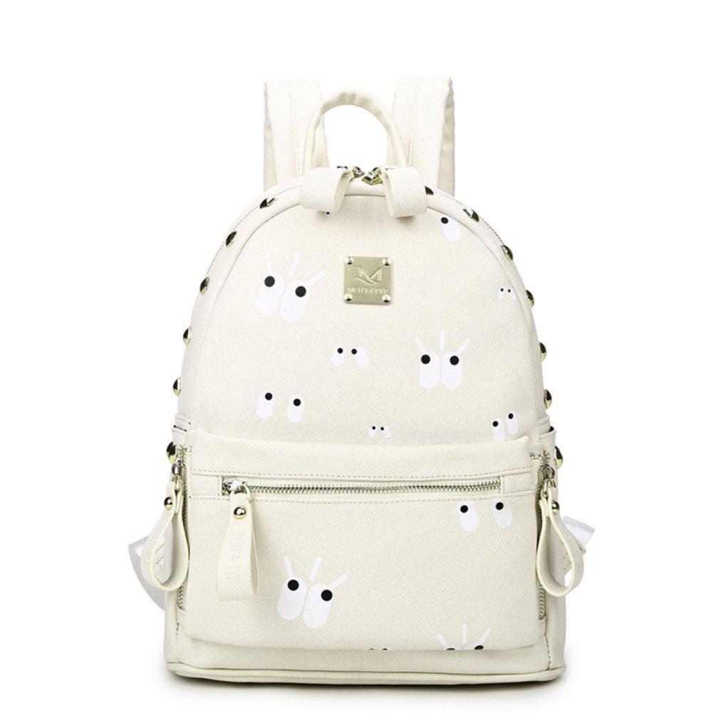 Backpack girls/Korean wave simple clean bag/Wild College wind bag/ knit printed backpack-D