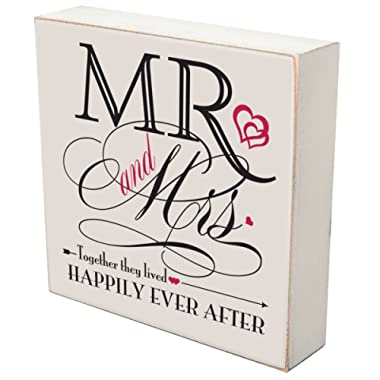 Mr. and Mrs. Wedding Anniversary Shadow Box For Couple, Housewarming Ideas Love by LifeSong Milestones (Mr. and Mrs.)
