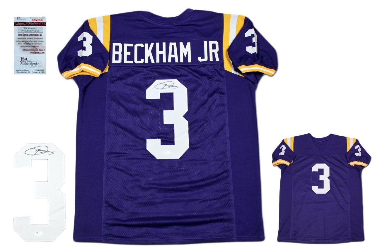 Signed Odell Beckham Jr. Jersey - Witnessed Purple - JSA Certified -  Autographed College Jerseys at Amazon s Sports Collectibles Store fedf32ad7