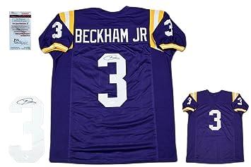 huge selection of b1935 fb7f5 Signed Odell Beckham Jr. Jersey - Witnessed Purple - JSA ...