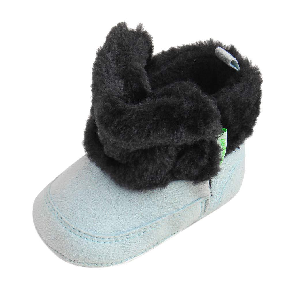 LANSKIRT _ Bébé enfant Chaussons bébé, Nouveau-né Bébé Bottes d'hiver Chaussures bébé Chaud Velours Enfant Enfant en Bas âge Chaussure de Marche bébé