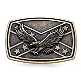 MASOP Western Animal Flying Eagle Bronze Flag Belt Buckle Mens Jeans Accessories