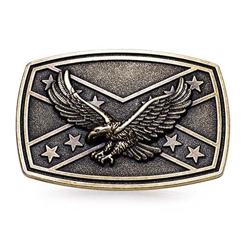 MASOP Western Animal Flying Eagle Bronze Flag Belt Buckle Mens Jeans Accessories Eagle Belt Buckle