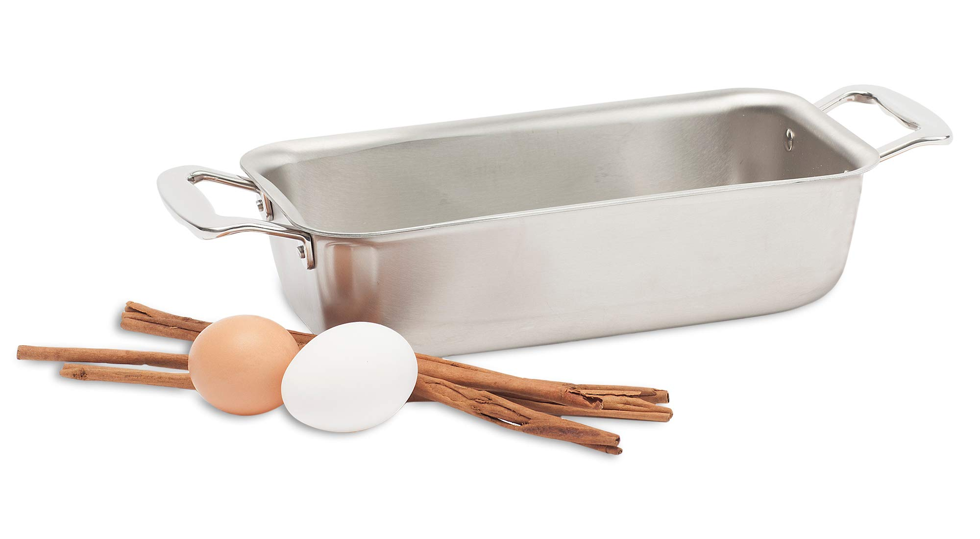 360 Stainless Steel Loaf Pan, Handcrafted in the USA, 5 Ply, Surgical Grade Stainless Bakeware, Dishwasher Safe, Professional Grade, Use as Baking Pan, Roasting Pan  (11''x6''x3'') by 360 (Image #5)