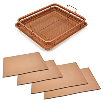 Amazon.com: Copper Chef Copper Crisper With Copper Chef Grill And ...