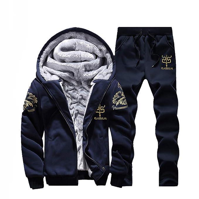 Chaqueta de Hombre de BaZhaHei, Sudadera con Capucha para Hombre Fleece Zipper Camisetas Outwear Coat