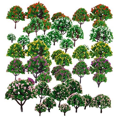 HOSL 30 PCS Random Model Flower Trees1.5-6