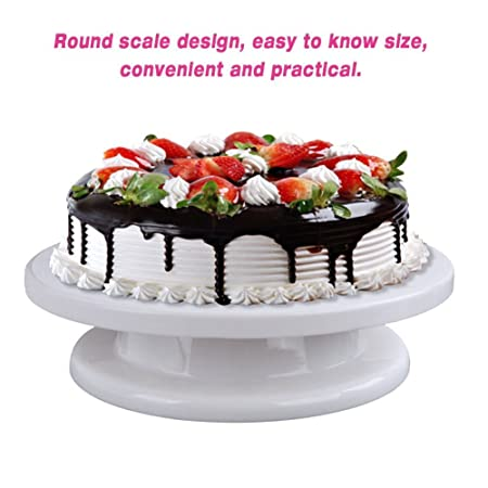 11 Inch Round Cake Turntable 360 Degree Revolving Cake Stand Rotating Cake  Decorating Supplies
