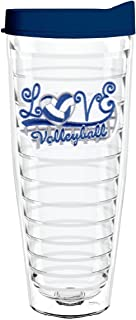 product image for Smile Drinkware USA-LOVE VOLLEYBALL 26oz Tritan Insulated Tumbler With Lid and Straw