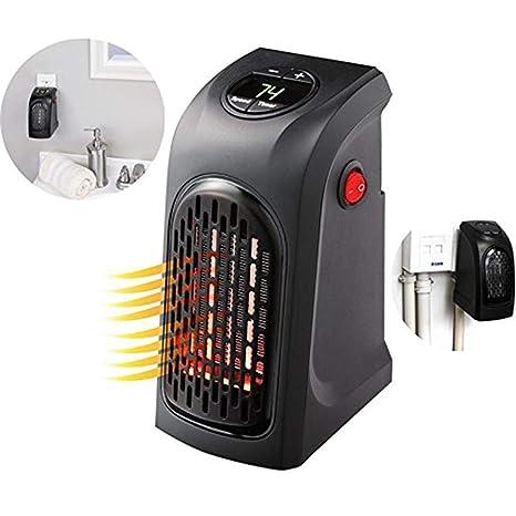 ZZQ Mini Calentador Eléctrico Digital Enchufable Manejable Calefacción Compacta con LED Pantalla 400W