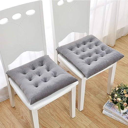 YAUUYA Cojines para sillas 40x40x8 cm - Natural - para sillas de jardín, sofás, Camas - Juego de Cojines con Relleno voluminoso y cómodo Set de 2 Cojines: Amazon.es: Hogar