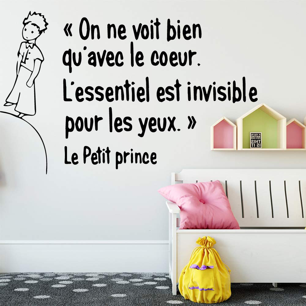 Tamaño grande Lindo Francés Le Petit Prince Arte de la pared ...