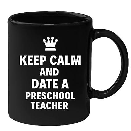 preschool teacher keep calm and date a preschool teacher christmas gift present
