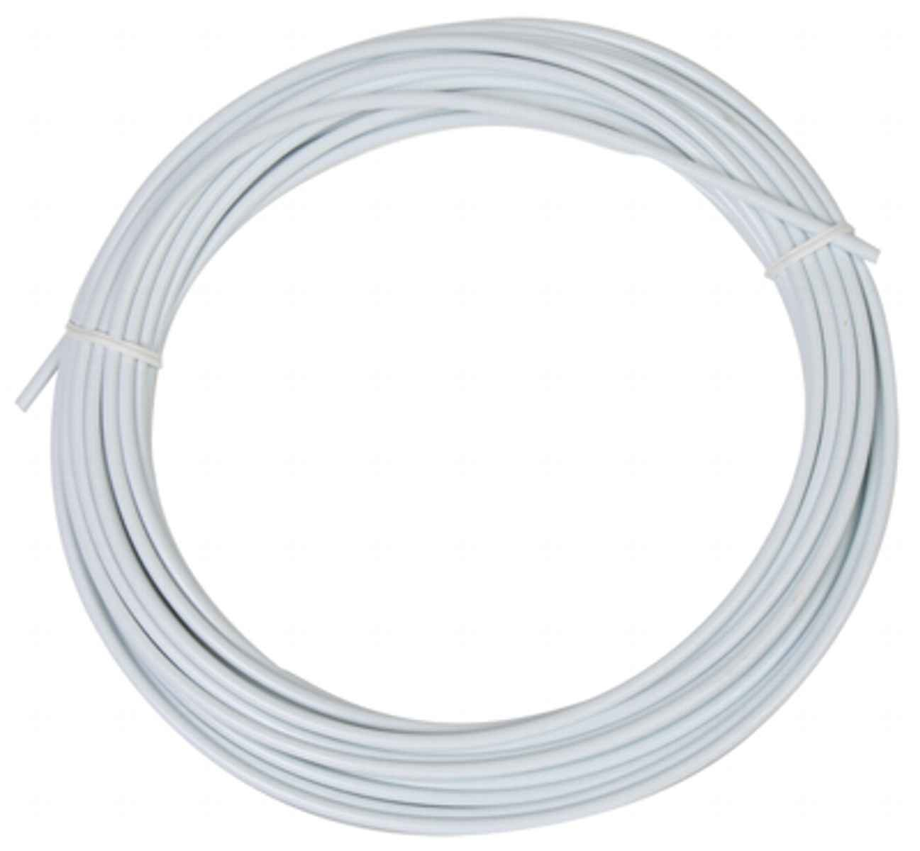 Sunlite Lined Brake Cable Housing, 5mm x 50ft, Weiß