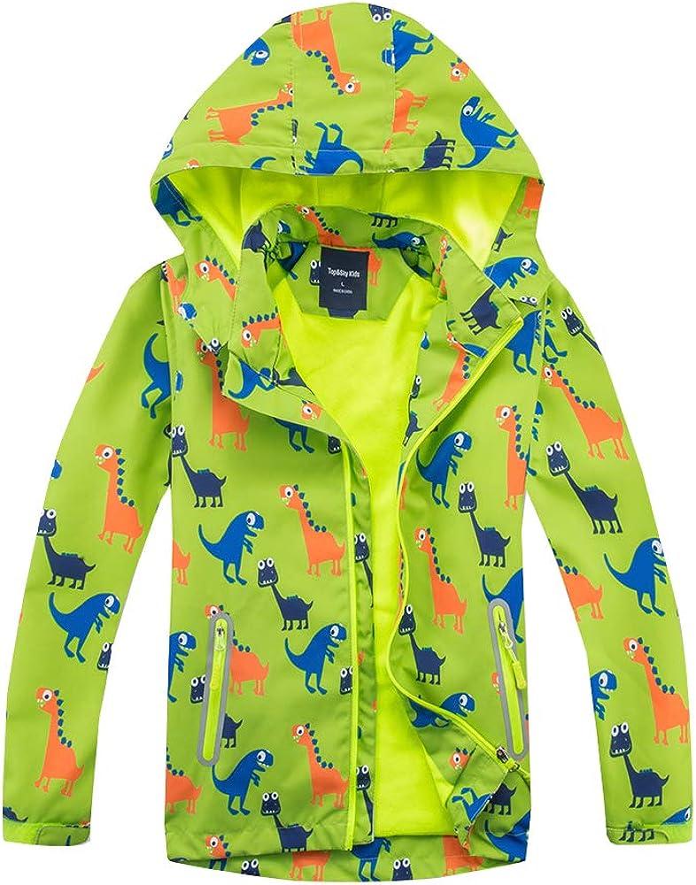 Enjoy Kids Waterproof Hooded Raincoat Casual Boys Girls Jacket