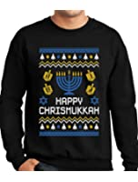 Tstars TeeStars - Happy Chrismukkah Xmas Hanukkah Ugly Christmas Sweatshirt