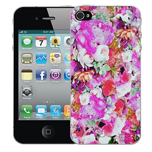 Mobile Case Mate iPhone 4s Silicone Coque couverture case cover Pare-chocs + STYLET - Floret pattern (SILICON)
