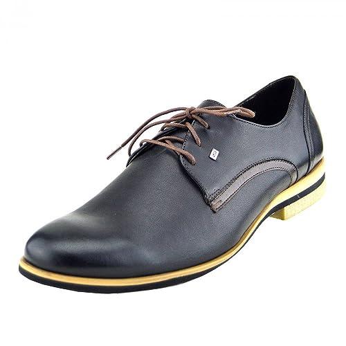 Kick Footwear Giatoma Niccoli Casual Genuine Leather Black Mens Shoes - UK  7 EU 41 24fba0dcb125