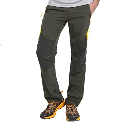 80c7489ebd Men's 100% Polyester Moisture Wicking Quick Dry Cargo Pants Outdoor Sports  Hiking Pants Stretchy Color