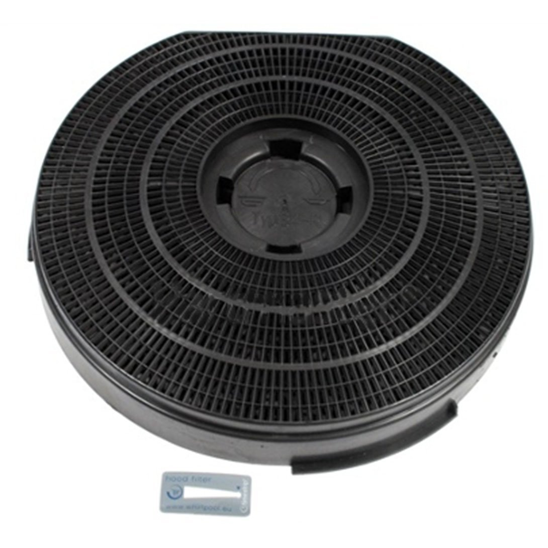 Genuine Philips Whirlpool Cooker Hood Charcoal Carbon Round Vent Filter (255 mm x 55 mm)