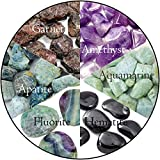 Aquarius Zodiac Bundle 6pc Quality Handpicked Healing Crystals; Astrological Stones for Anxiety Relief, Deep Thought, Communication and Kindness; All Natural Gems: Raw and Tumbled Finishes (Deluxe)