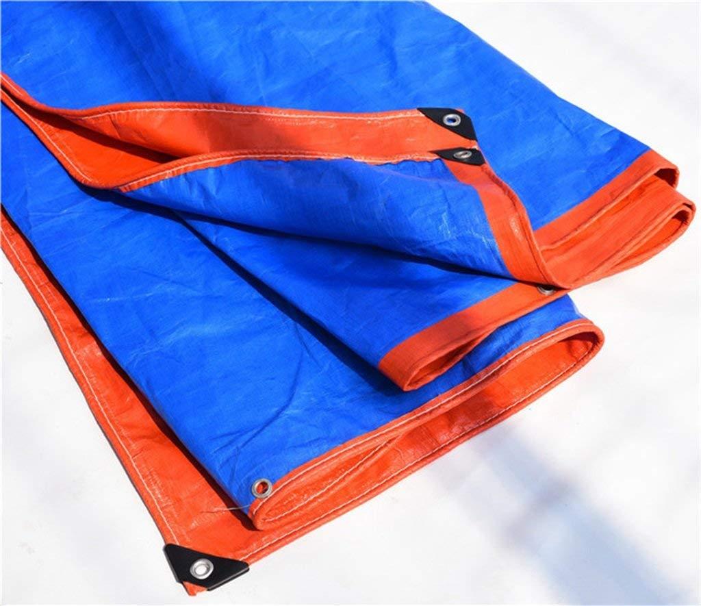 MONFS Home Außenzelt Plane Wasserdichte Poncho dreirädrige LKW Sonnencreme Sonnenschutz Plane Faltbare Anti-Oxidation (Farbe   A, Größe   8  9)