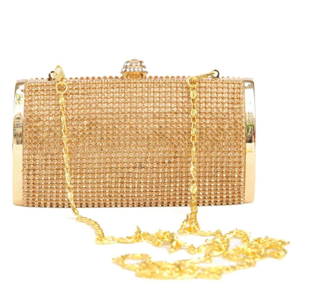 gold Soft Evening Gift Set Rhinestone Bride Bridesmaid Fashion Clutch Handbag Handbag (color   Silver, Size   One Size)