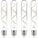 helloify T10 Dimmable Vintage LED Edison Tubular Bulb, 40W Equivalent, High Brightness, Warm White 2700K, Clear Glass…