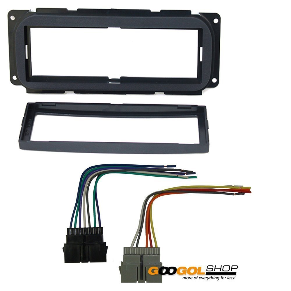 amazon com: cdk640 single din installation dash kit for select 1998-2010  chrysler/dodge/jeep vehicles w wiring harness: car electronics