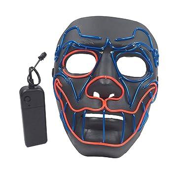 RG-FA Halloween Divertido Máscara LED Purga Alambre Iluminar ...