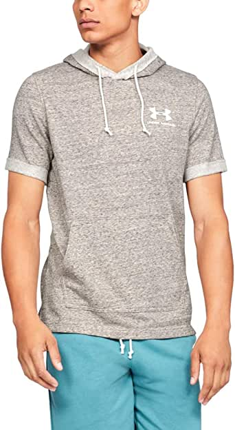 Under Armour Men's Sportstyle Terry Ss Hoodies, White (Onyx White ), Large