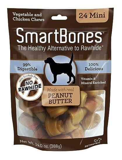 Smartbones Mini Peanut Butter 14oz Bags. 1pk