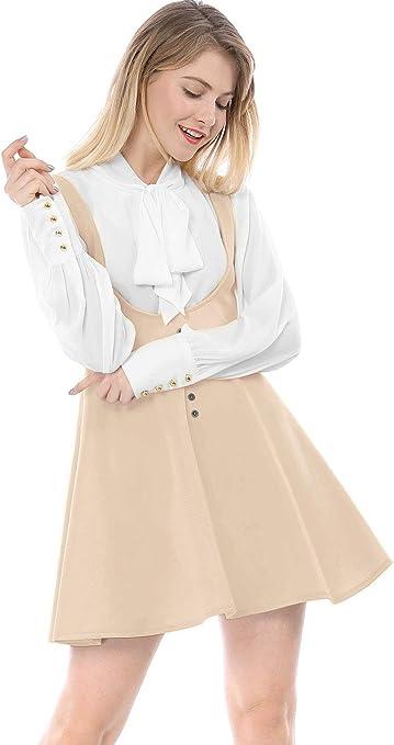 Size Allegra K Donne Pieghettata Linea Cintura Elastica Bretelle Mini Bretelle Mantello Color