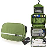 Samtour Travel Toiletry Bag Business Toiletries Bag for Men Shaving Kit Waterproof Hanging Travel Cosmetic Pouch Case for Women (Green)