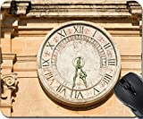 MSD Natural Rubber Mousepad Mouse Pads/Mat design: 35180317 Old clock on St Paul cathedral in Mdina Malta