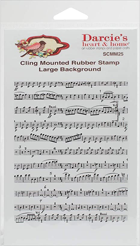 Music Notes Background Melody Music Clear Stamps for Cards Making Decoration Clear Stamps or Scrapbooking Paper Craft Tools