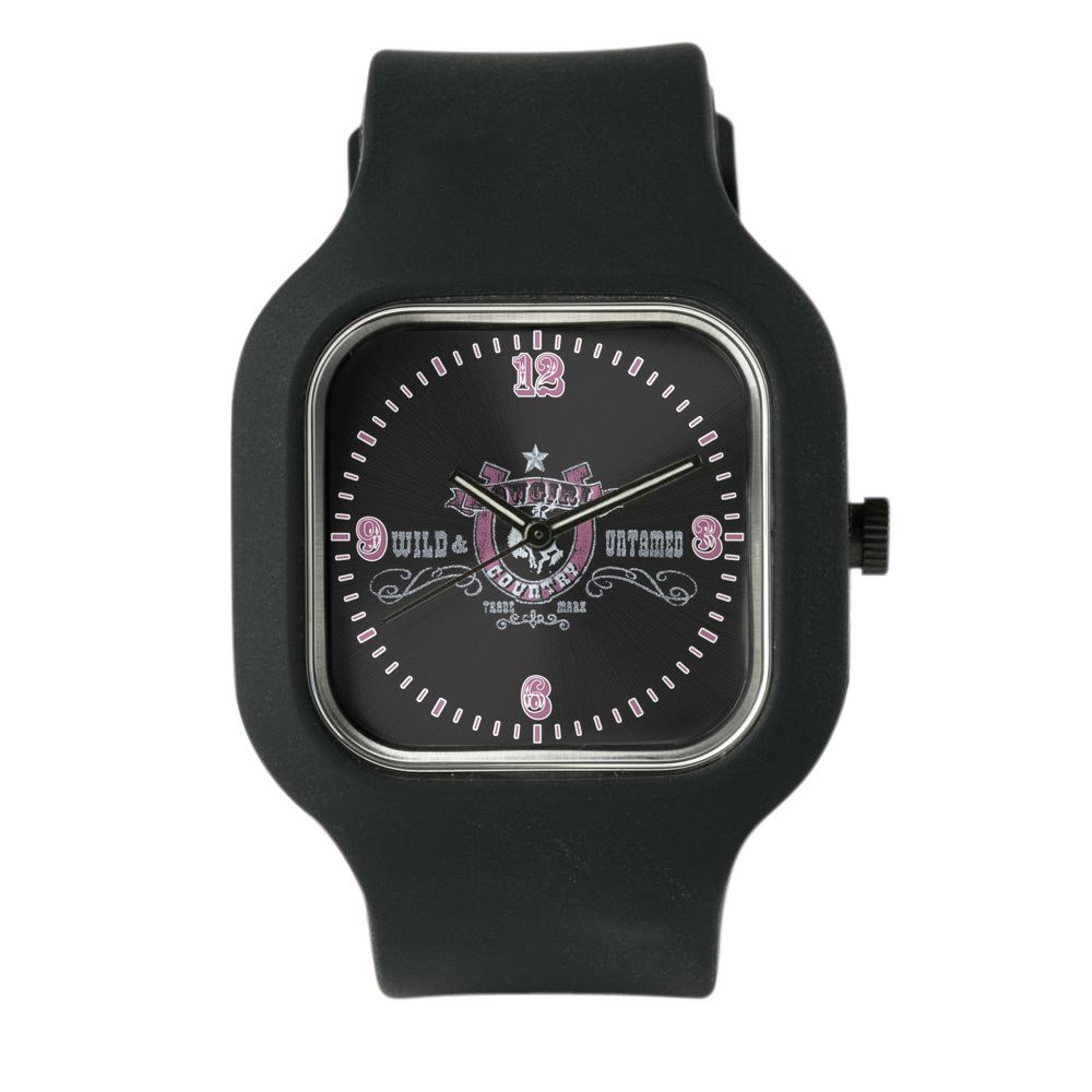 Black Fashion Sport Watch Cowgirl Country Wild and Untamed